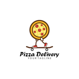 Pizza delivery logo