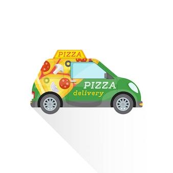 Pizza fast delivery mini car