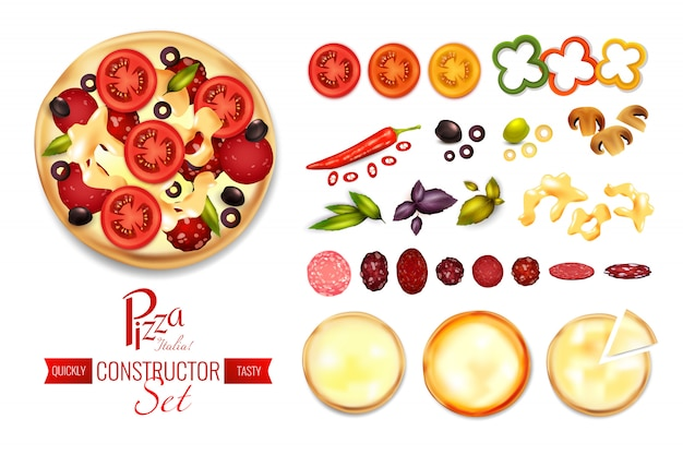 Pizza filler constructor set