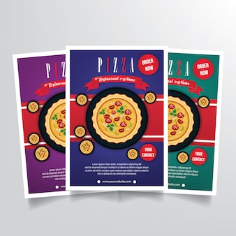 Pizza flyer template vector