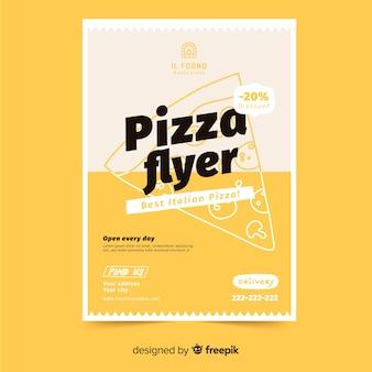 Шаблон флаера для пиццы Бесплатные векторы