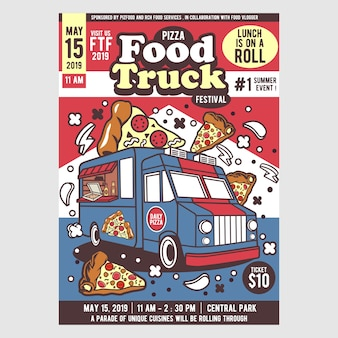 Pizza food truck festival