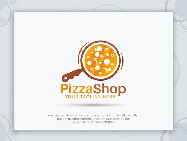 Пицца дом векторный дизайн логотипа
