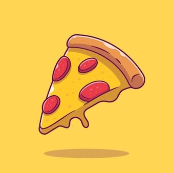 Пицца иконка. коллекция быстрого питания. изолированный значок еды