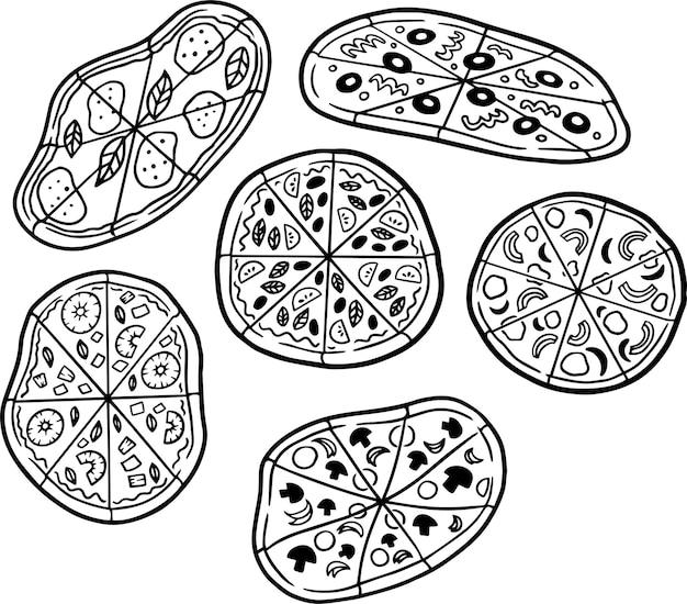 Иллюстрированная пицца