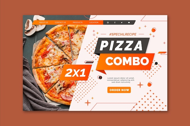 Pizza landing page template