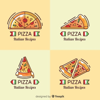 Pizza logotype collection