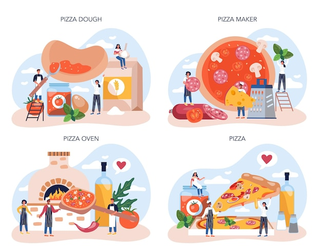 피자 메이커 컨셉 세트