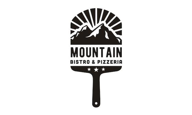 Pizza mountain logo design