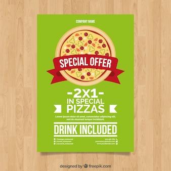 Pizza offer brochure