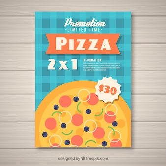 Brochure di offerta pizza