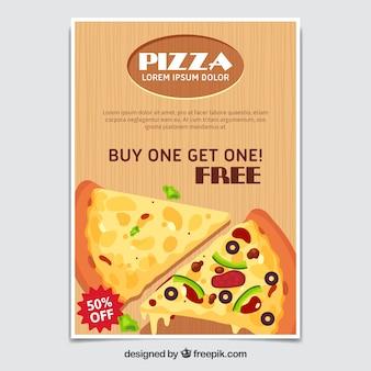 Брошюра предлагает пиццу
