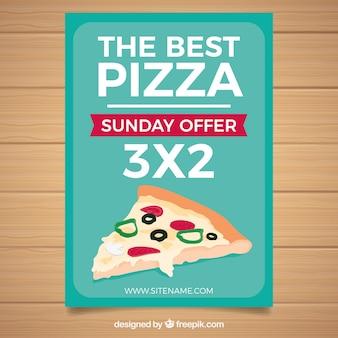 Brochure di offerta pizza