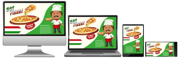 Pizza promotion on electronic devices