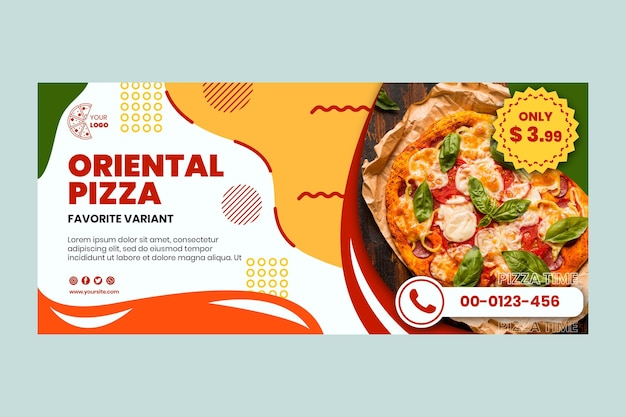 피자 레스토랑 배너 서식 파일