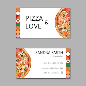 Pizza restaurant business card template