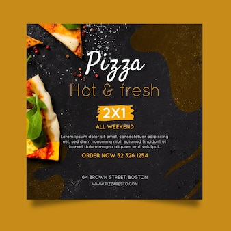 Pizza restaurant flyer square