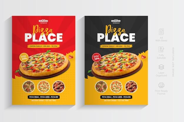 Дизайн шаблона флаера ресторана пиццы