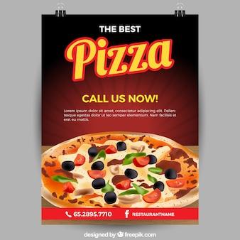 Pizza restaurant flyer