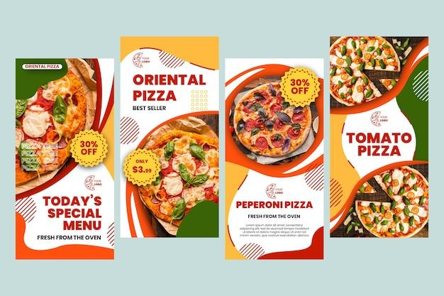 Pizza restaurant instagram stories