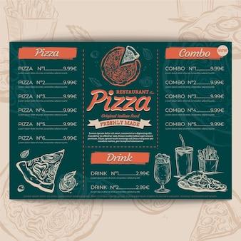 Modello di menu ristorante pizzeria