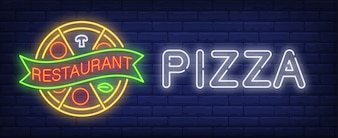 Pizza restaurant neon sign