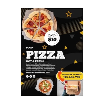 피자 레스토랑 포스터 템플릿