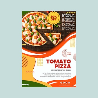 Pizza restaurant vertical flyer template