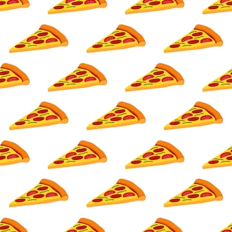Pizza seamless pattern background vector design