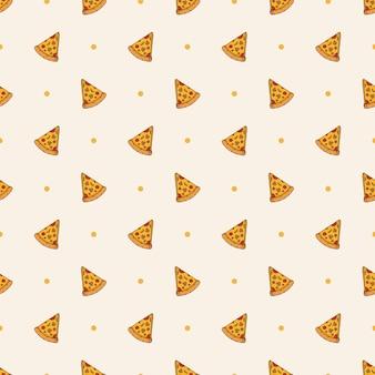ピザのシームレスなパターンの背景