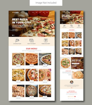 Pizza selling landing page template
