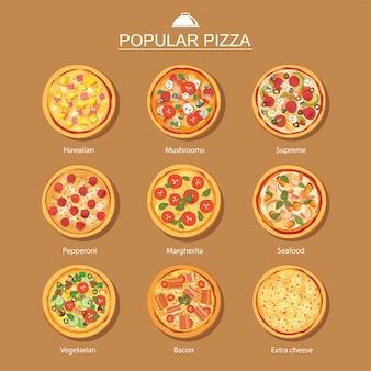 Pizza set different menu