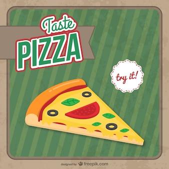 Кусок пиццы свободный вектор