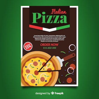 Pizza slice flyer template