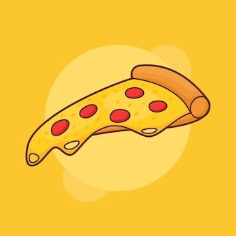 Pizza slice traditional flavor italian food