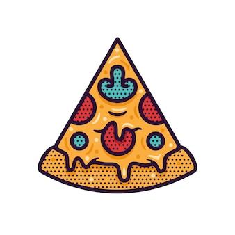 Pizza slice vector illustration