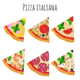 Pizza slices.