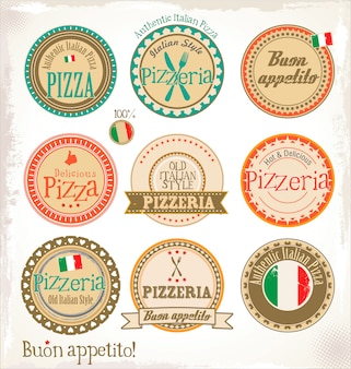 Pizza stamp - set