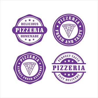 Pizza stamps design collection
