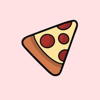 Пицца символ социальных сми сообщение векторные иллюстрации
