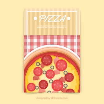 Pizza and tablecloth brochure
