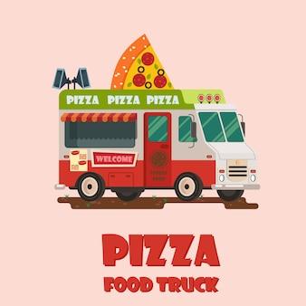 Pizza truck icon