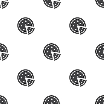 Пицца, вектор бесшовные модели, редактируемый может использоваться для фонов веб-страницы, узорные заливки