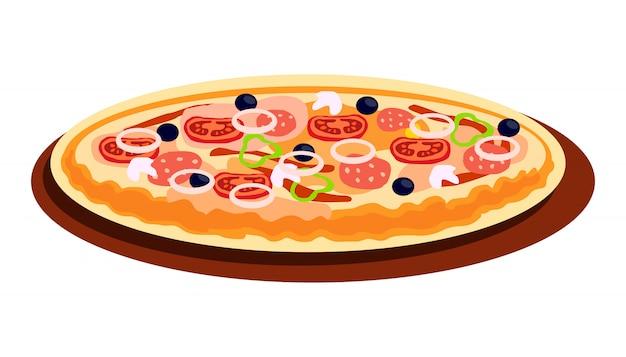 Мультфильм пицца с разными вкусами