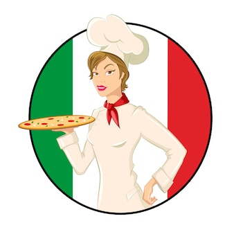 Pizza woman