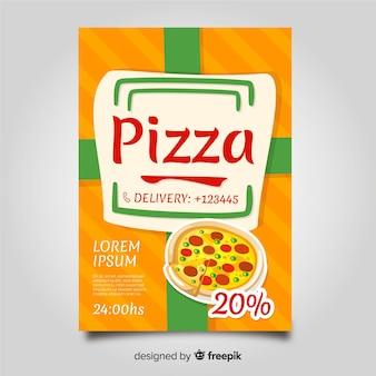 Pizzaパンフレットテンプレート