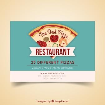 ヴィンテージスタイルのピザ屋パンフレット
