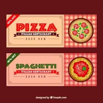 Pizzeria discount banners
