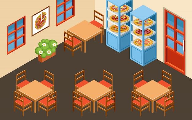 Pizzeria interior