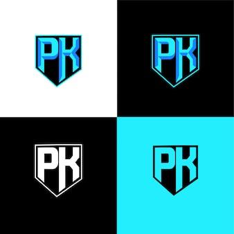 Pk начальный спортивный шаблон логотипа